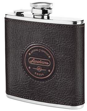 Aspinal of London The Aerodrome Classic Leather Hip Flask