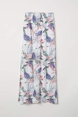 H&M Patterned Maxi Skirt - White/botanical - Women