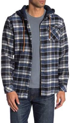 Burnside Long Sleeve Flannel Hoodie
