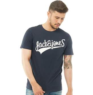 Jack and Jones Originals Mens Mills Big T-Shirt Total Eclipse