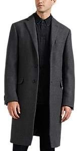 Barneys New York Men's Wool-Blend Slim Overcoat - Gray