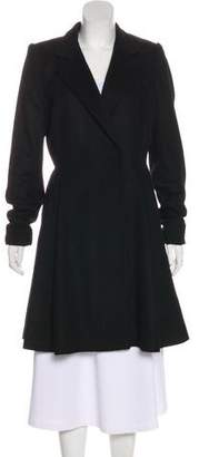 Alice + Olivia Virgin Wool Knee-Length Coat