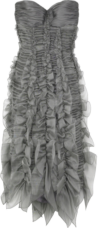 Burberry Bustier ruffle dress