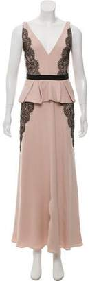 J. Mendel Silk Sleeveless Gown