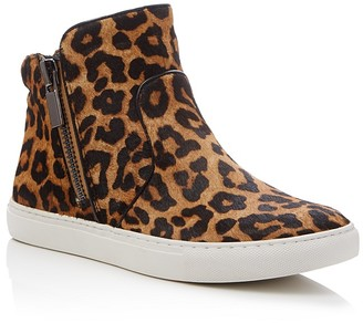 Kenneth Cole Kiera Leopard Print High Top Sneakers $130 thestylecure.com