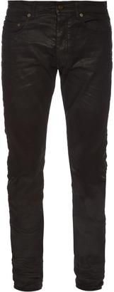 SAINT LAURENT Waxed skinny jeans $360 thestylecure.com