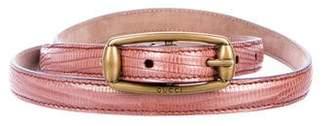 Gucci Metallic Narrow Belt w/ Tags