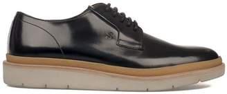 Hogan Black H356 Brushed Leather Derby