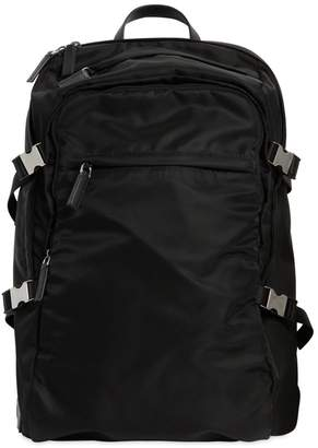 Prada Nylon Canvas Backpack W/ Side Straps