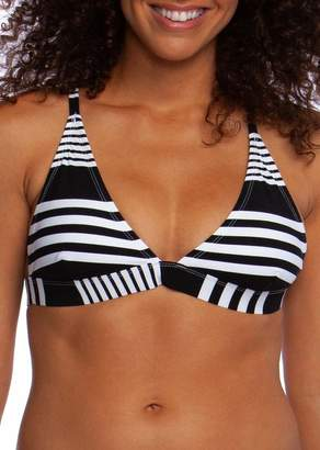 La Blanca Fine Line Striped Triangle Tie Bikini Top
