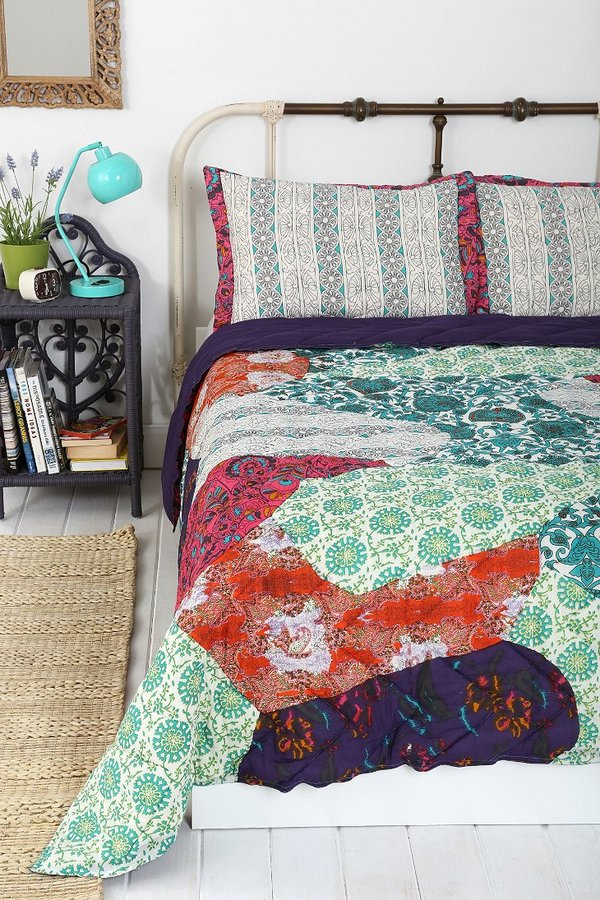 Urban Outfitters Magical Thinking Pieced Floral Quilt