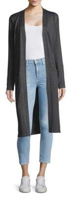 Joan Vass Long Open Front Cardigan