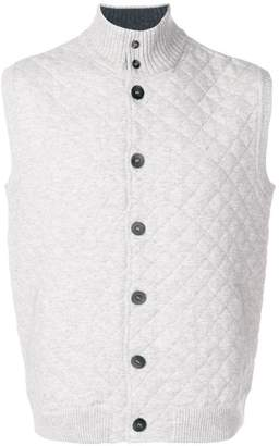 N.Peal quilted knit waistcoat