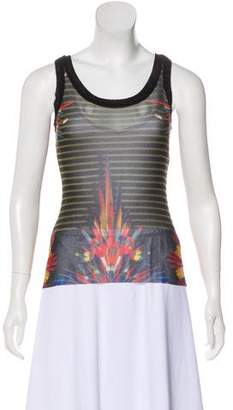 Jean Paul Gaultier Soleil Semi-Sheer Printed Top