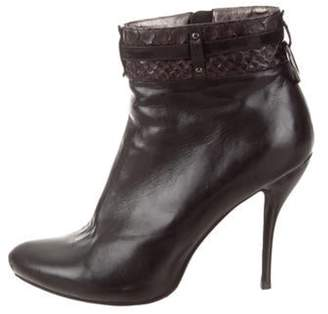 Alexander McQueen Leather Ankle Boots Black Leather Ankle Boots