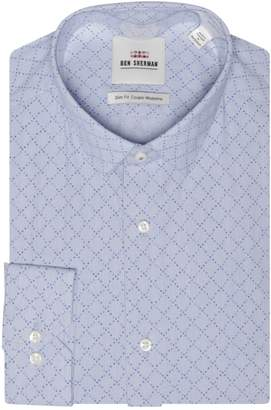Ben Sherman Printed Slim-Fit Dress Shirt