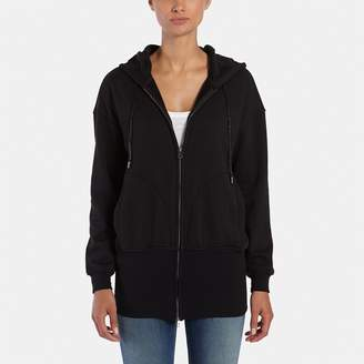 ATM Anthony Thomas Melillo Zip-Up Hoodie with Rib Bottom