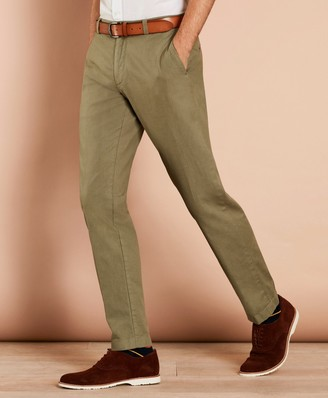 ef473afd70fc Brooks Brothers Garment-Dyed Cotton-Linen Stretch Chinos