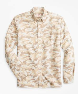 Brooks Brothers Camo-Print Supima Cotton Oxford Sport Shirt