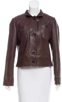 Rene Lezard Button-Up Leather Jacket