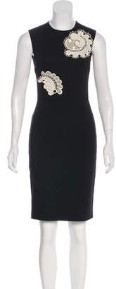 Stella McCartney Sleeveless Lace-Paneled Dress