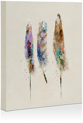 Deny Designs Deny Free Feathers Canvas, 16 x 20