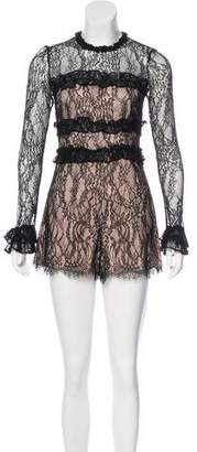 Alexis Long Sleeve Lace Romper