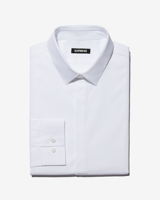 Express Classic Fit Basic Tuxedo Dress Shirt