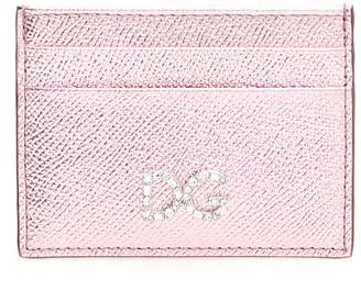 Dolce & Gabbana Leather Cardholder With Crystal
