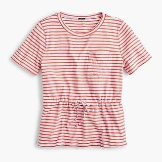 J.Crew Tie-waist pocket T-shirt in stripes