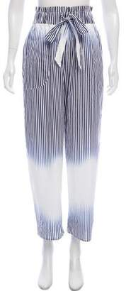 Milly Striped Flared Pants
