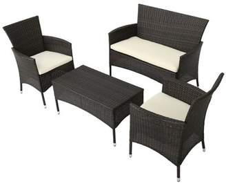 Mercury Row Alcibiades 4 Piece Deep Seating Group with Cushion Mercury Row