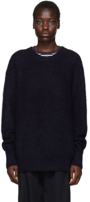 Blue Blue Japan Navy Oversized Mohair Sweater