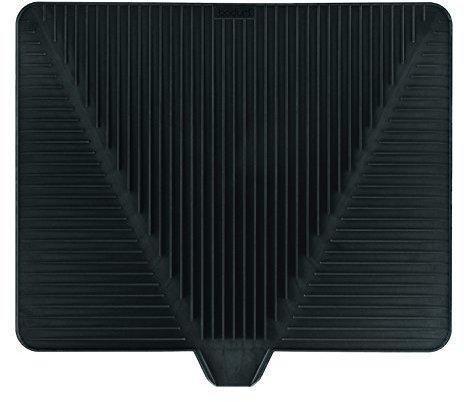 Bodum BISTRO Drying Mat (Sloping Grooves, Dishwasher Safe) - Black