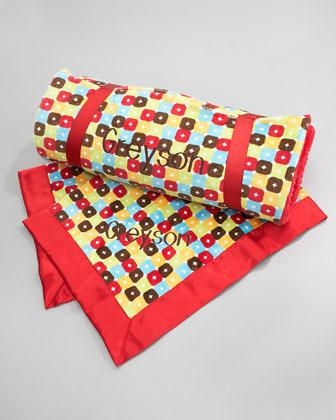 Swankie Blankie Foxy Boxy Plush Nap Mat, Plain