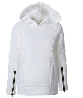 Feisen Women's Comfy Warm Hoodie Jackets Pullover Tops Blouse XL