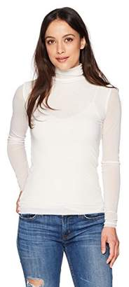 Only Hearts Women's Tulle Long Sleeve Turtleneck 2 Ply
