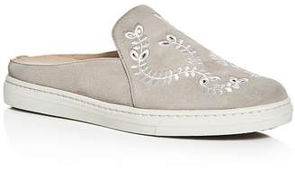Via Spiga Rina Embroidered Suede Sneaker Mules $150 thestylecure.com