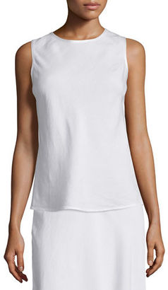 NIC+ZOE Sleeveless Easy Linen-Blend Top $108 thestylecure.com