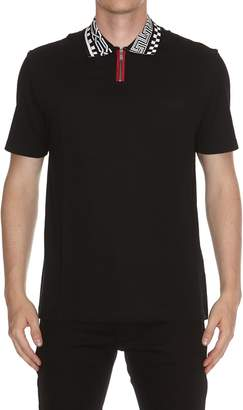 Versace Chiave Greca Collar Polo Shirt