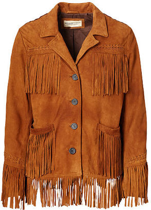 Ralph Lauren Denim & Supply Fringe Suede Jacket $798 thestylecure.com