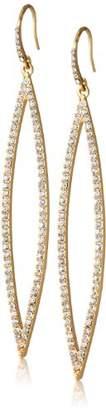 ABS by Allen Schwartz Tone Pave Navette Shaped Earrings