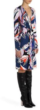 Emilio Pucci Emilio Pucci Faux Wrap Jersey Dress