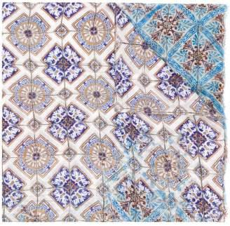 Faliero Sarti tile printed scarf