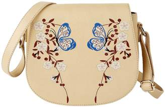 Kaleidoscope Leather Embroidered Saddle Bag