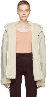 Yeezy Ivory Short Shearling Jacket
