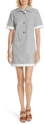 Derek Lam 10 Crosby Utility Stripe Shirtdress