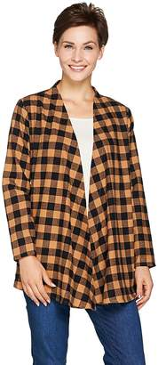 Buffalo David Bitton Joan Rivers Classics Collection Joan Rivers Draped Front Check Cardigan