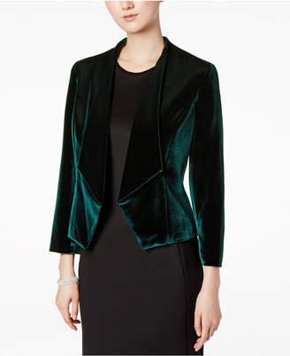 Nine West Velvet Kiss-Front Blazer
