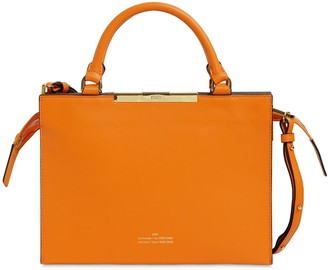 Rokh FILE A LEATHER TOP HANDLE BAG